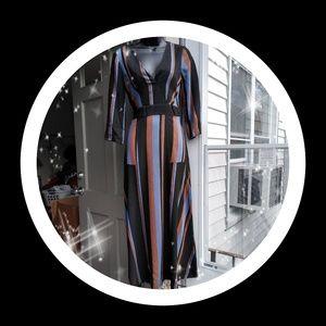 Zara Black stripe dress